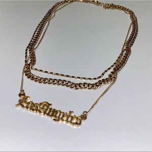Forever 21: Los Angeles layered chain necklace